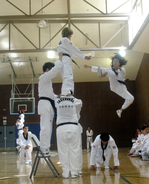 flying front kick, demonstration team, US Eagles, Tae Kwon Do, Hap Ki Do