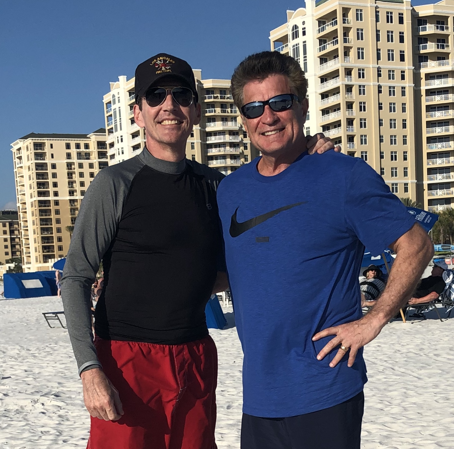 Loren Avedon, Keith Vitali on Clearwater Beach